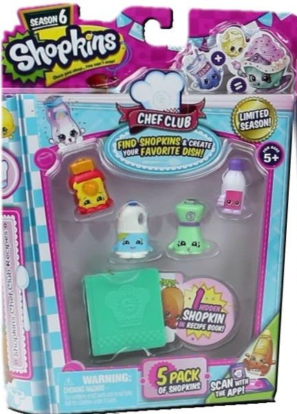Shopkins - Chef Club - Kit com 5 Shopkins