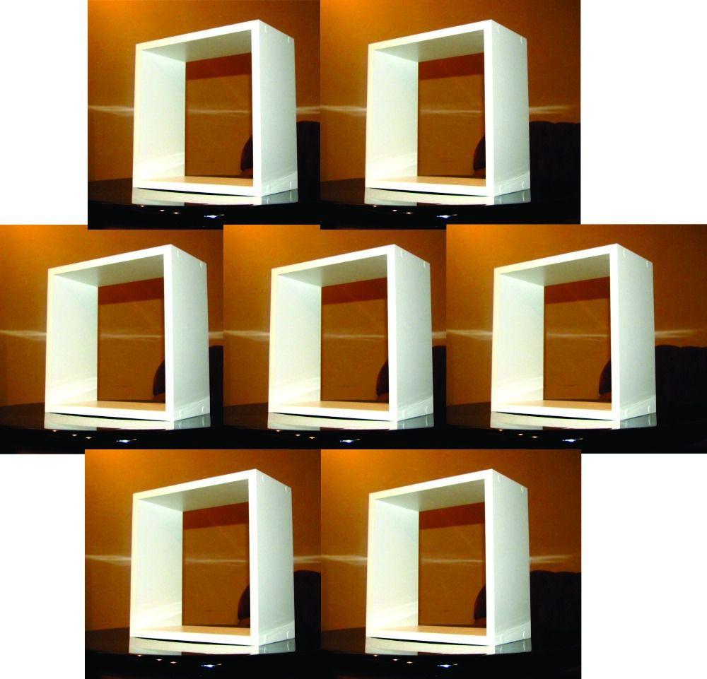 7 Nichos 30x30x15 Cm Branco 100%mdf (15mm)