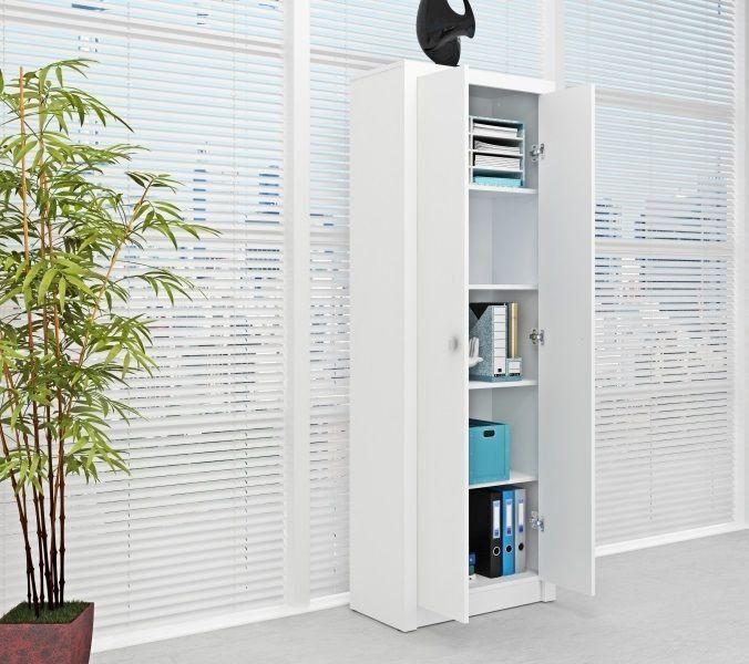 Armário Alto Para Escritório 2 Portas ME4105 Branco - MX14