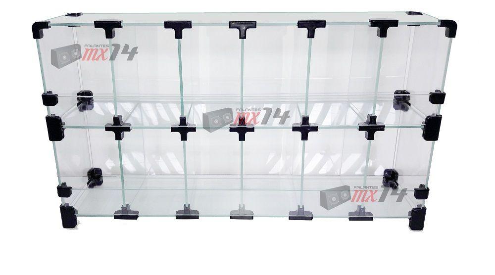 Balcão Vitrine Em Vidro Temperado 2 X 1 Metro P/ Lojas