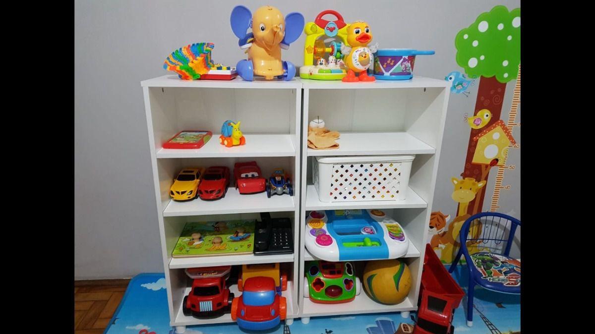 Caixa Organizador Prateleiras Brinquedos