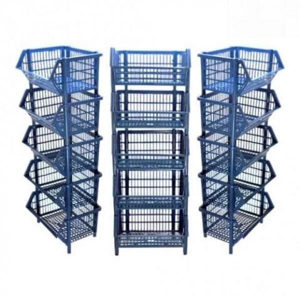 Cesto Expositor Azul Prático Jogo Com 12 Peças Pq