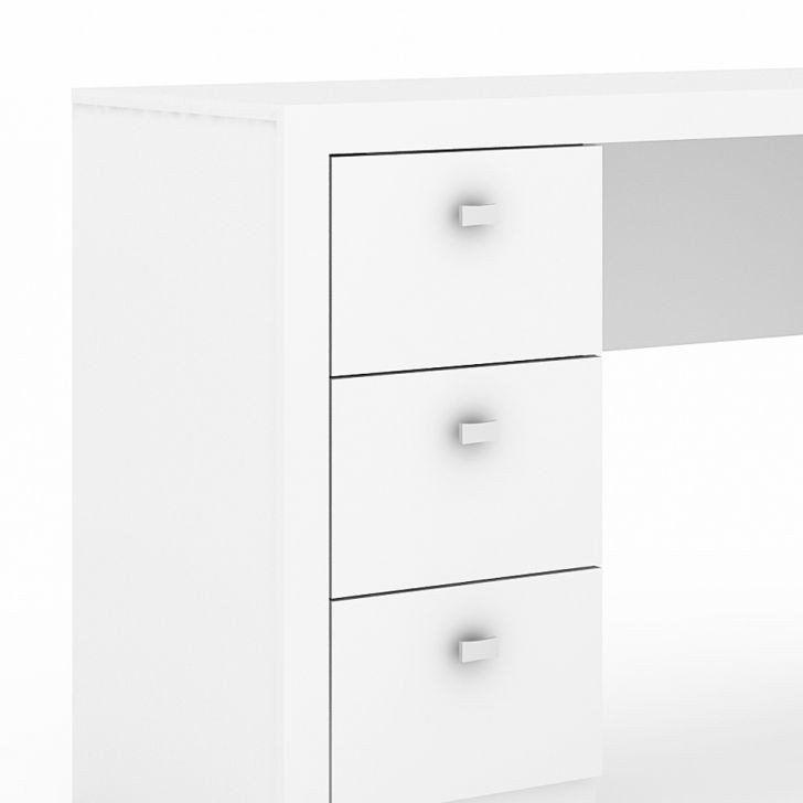 Escrivaninha/Mesa com Balcão ME4100 3 Gavetas Branco - MX14