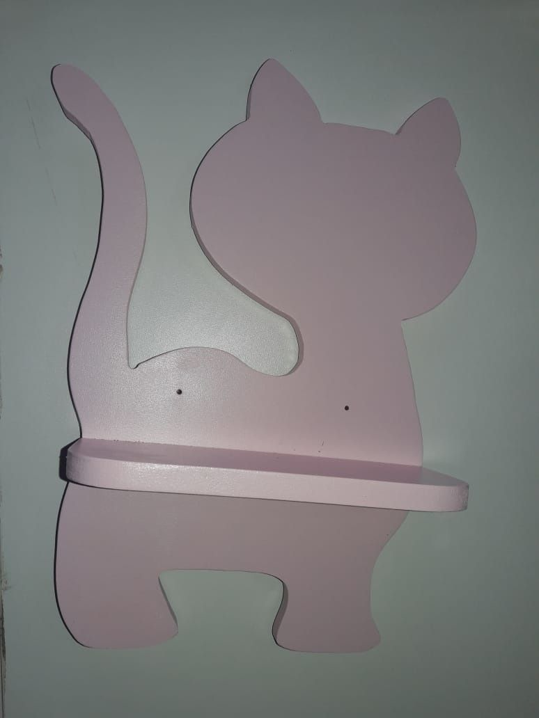 Gato em MDF Prateleira
