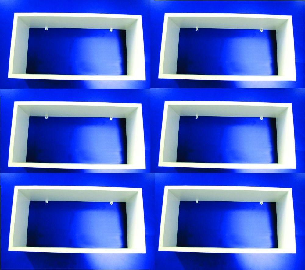 Jogo 6 Nichos Branco 100% Mdf 50x25x15 Cm Organizador