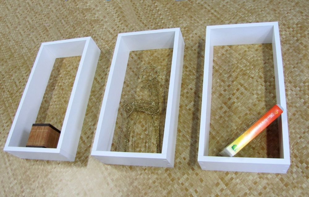Jogo De 3 Nichos Brancos 50x25x15 Cm 100% Mdf (15mm)