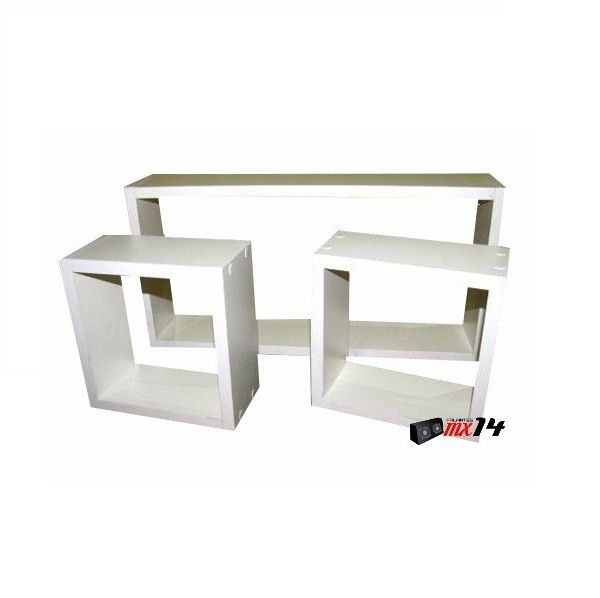 Jogo de Nichos Decorativos 3 peças MDF 15 mm