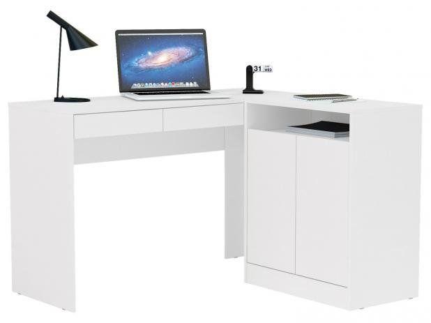 Kit Escritório com 2 Portas e 2 gavetas Branco - MX14