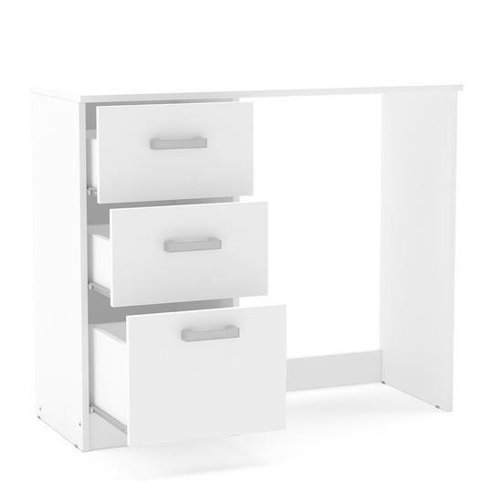 Mesa 3 Gavetas Branco - MX14
