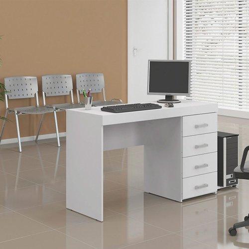 Mesa/Escrivaninha para Computador 4 Gaveta Branco FF - MX14
