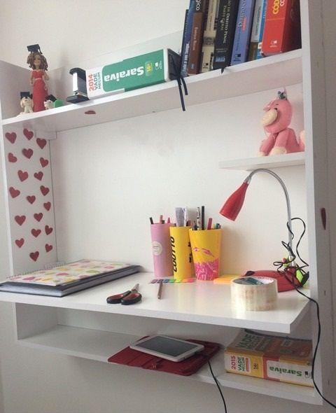 Mesa Notebook Suspensa De Parede De Estudos