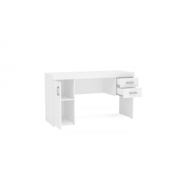 Mesa para Computador 2 Gavetas 1 Porta MX14 Branco