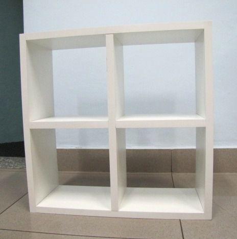 Nicho Colmeia Mdf Branco (15mm) 60x60x20 Cm - 4 Quadros