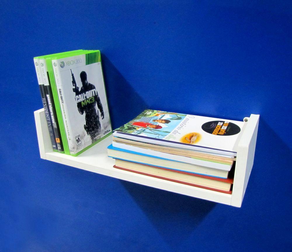 Prateleira U Mdf Branco 40x10x15 Cm Livros Estante Nicho