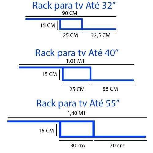 Rack Tv Sala Quarto Branco Suspenso Com Suporte