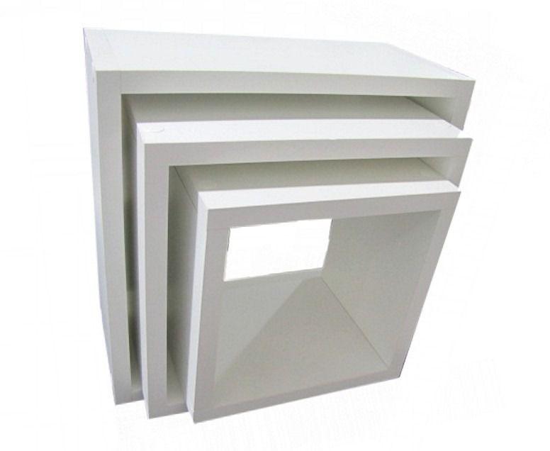 Trio Nichos Mdf Branco 30/25/20 X 15cm Mais Profundidade
