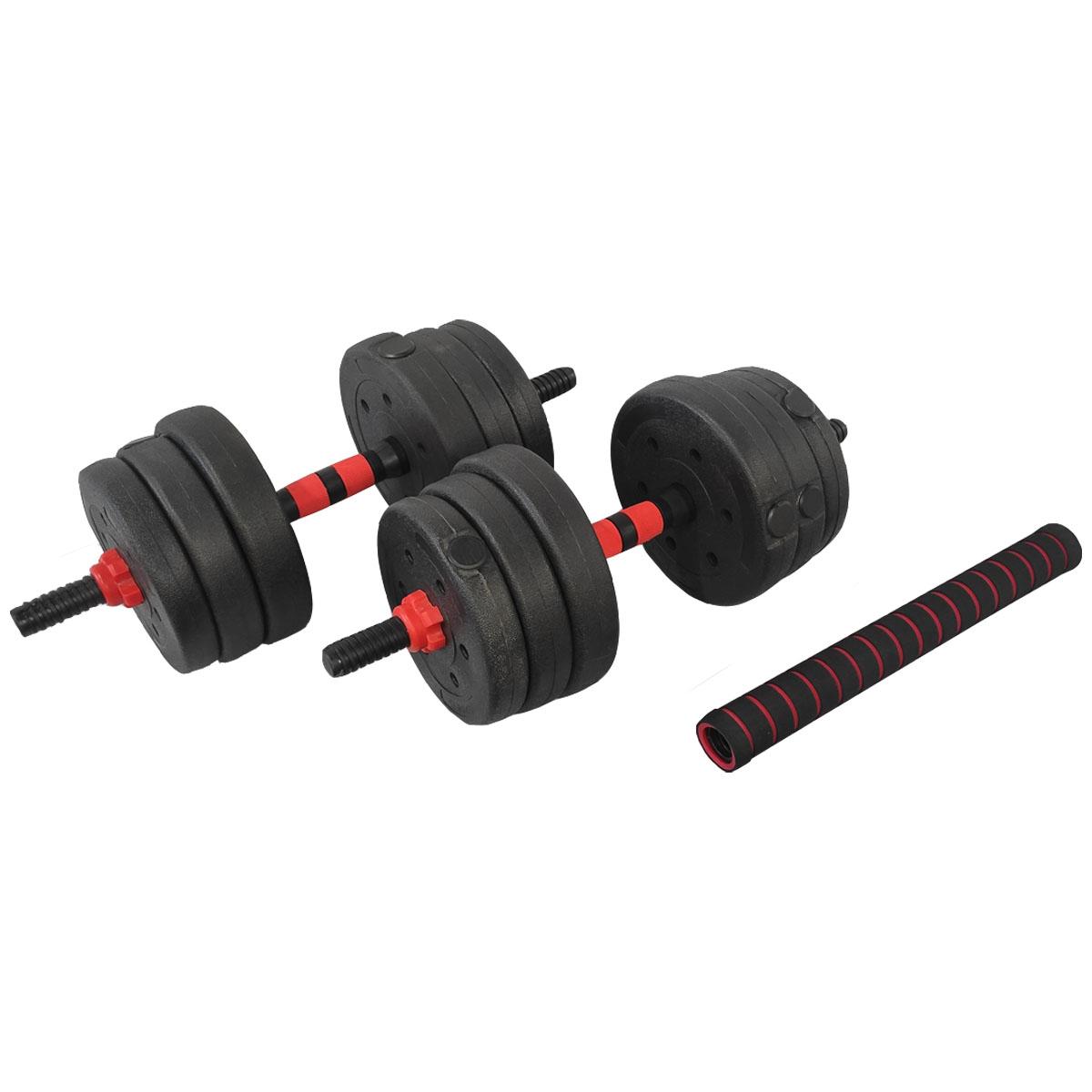 Barra Anilha Halter Dumbbell Kit Musculação 20kg