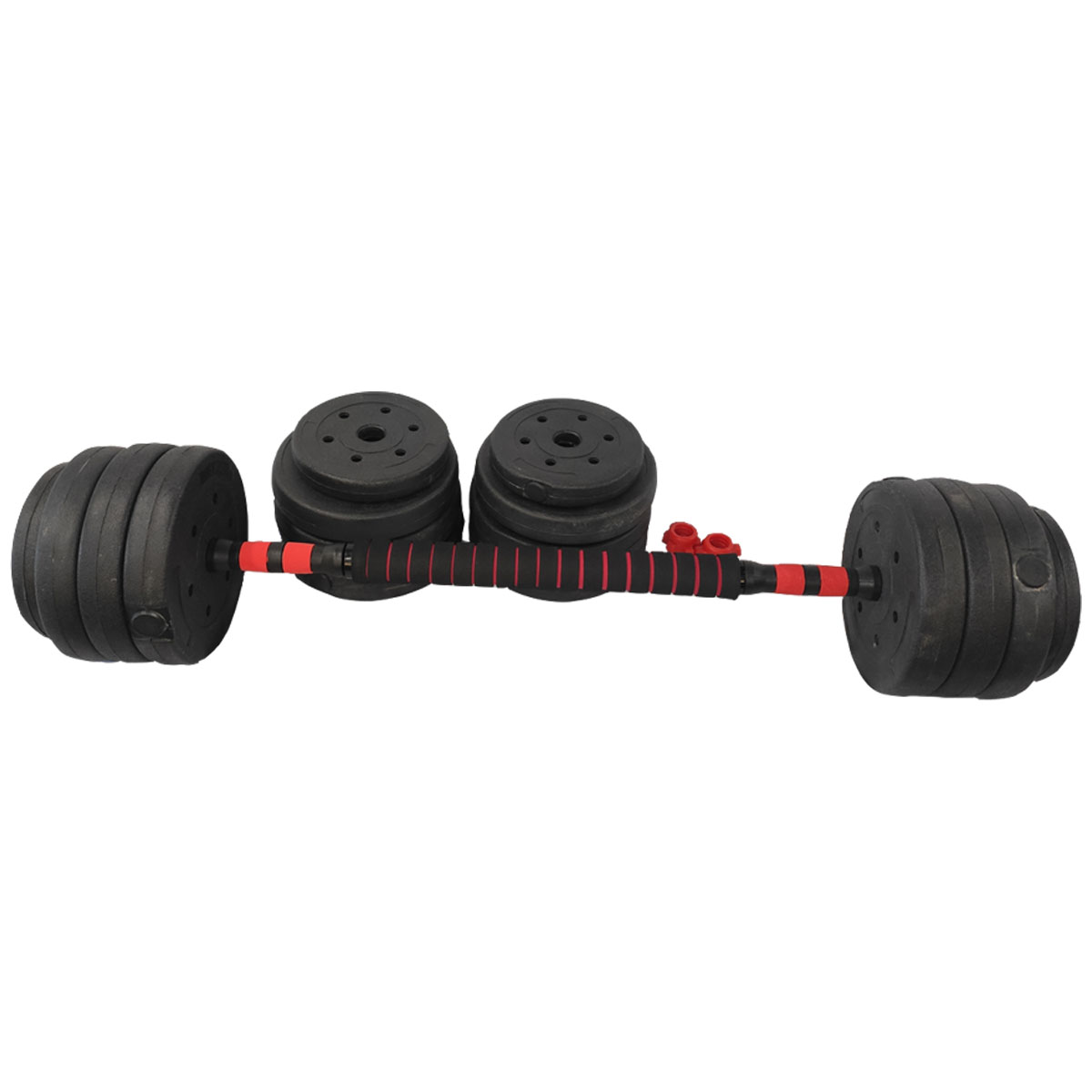 Barra Anilha Halter Dumbbell Kit Musculaçao 40kg