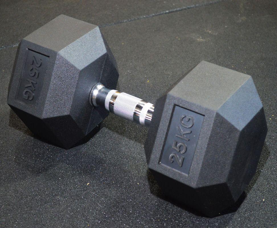 Kit Dumbbells Sextavado Emborrachado 12,5 a 35 kg