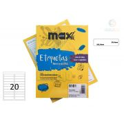 Caixa de Etiquetas 6181 Com 100 Folhas 20etiq/folha Maxprint