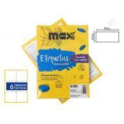 Caixa de Etiquetas 6184 Com 100 Folhas 6 etiq/folha Maxprint