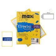 Caixa de Etiquetas 6186 Com 100 Folhas 2 etiq/folha Maxprint