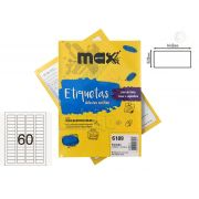 Caixa de Etiquetas 6189 Com 100 Folhas 60 etiq/folha Maxprint