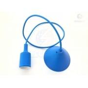 Pendente Orbital Silicone Azul