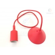 Pendente Orbital Silicone Vermelho