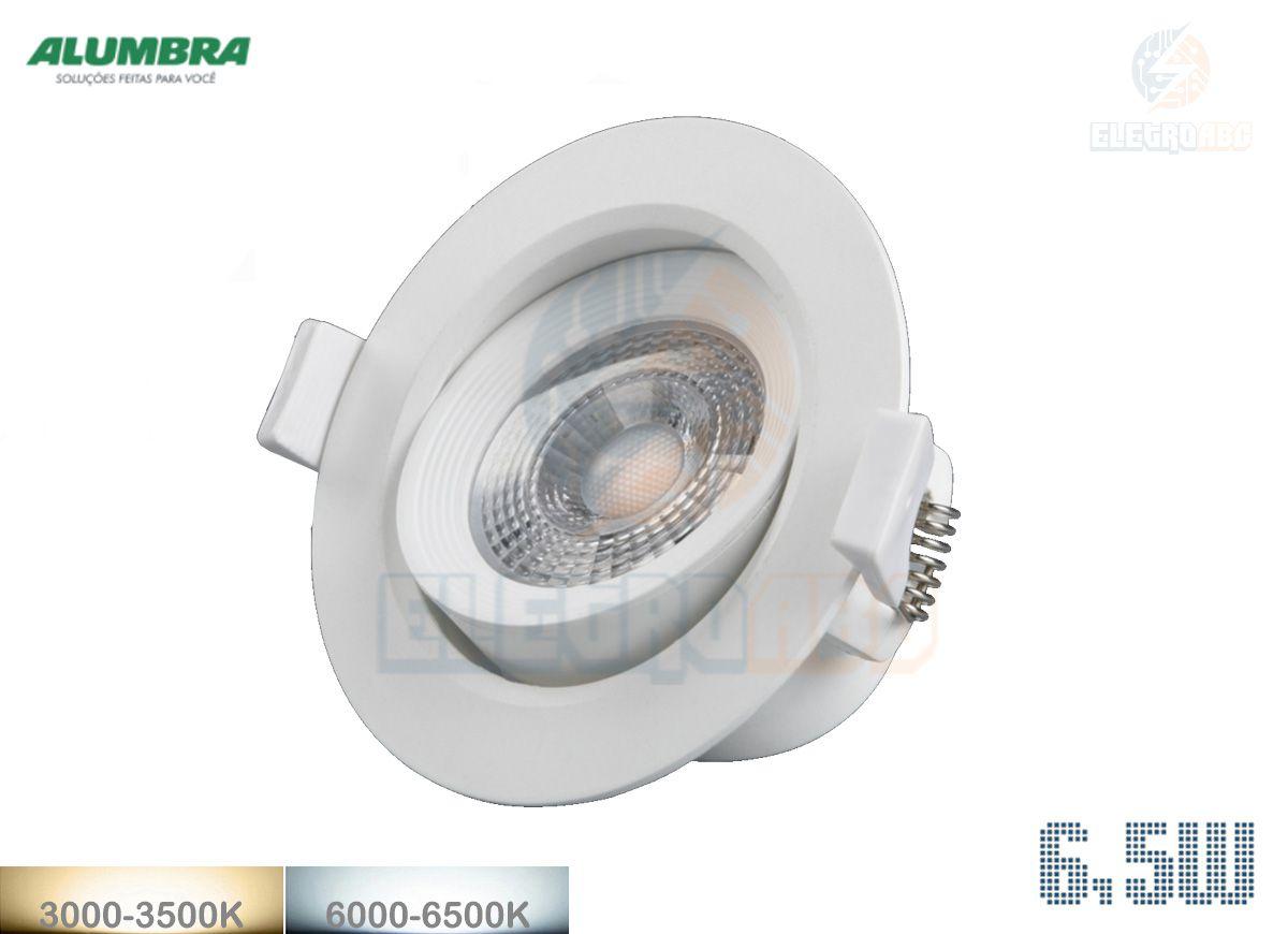 20 UN. - Spot redondo BR Regulável LED 6.5W 6000K 84410