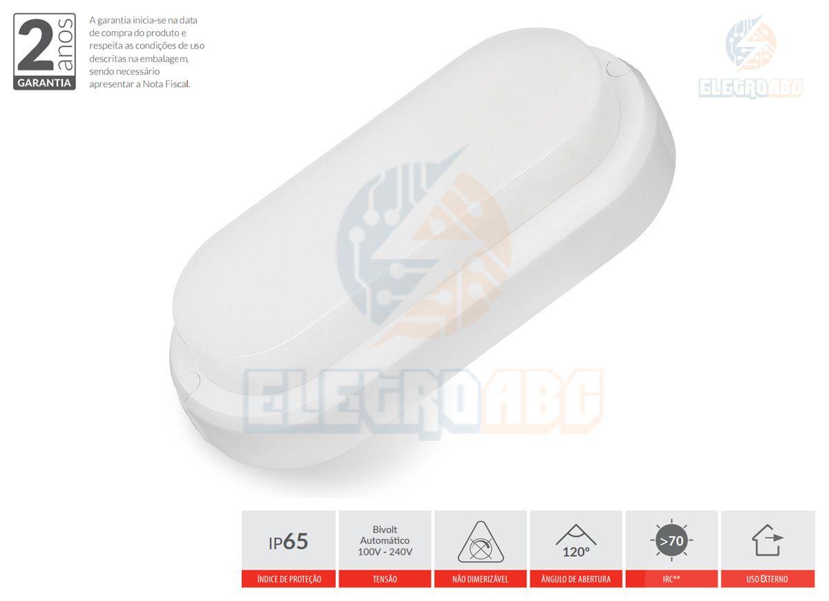 ARANDELA LED HUMMER 12 Watts IP65 6500K Branca