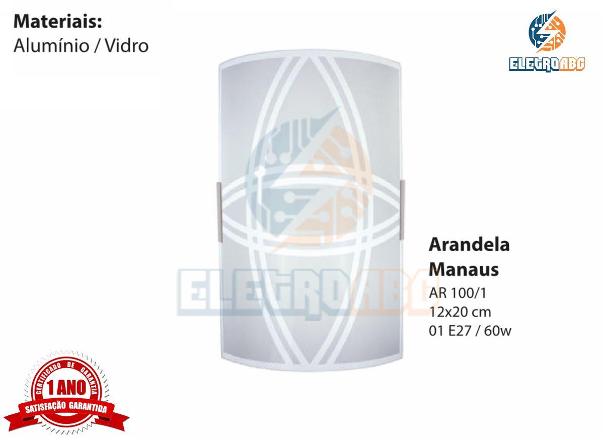 Arandela Manaus 12x20 cm