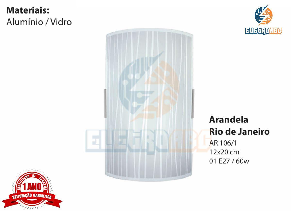 Arandela Rio de Janeiro 12x20 cm