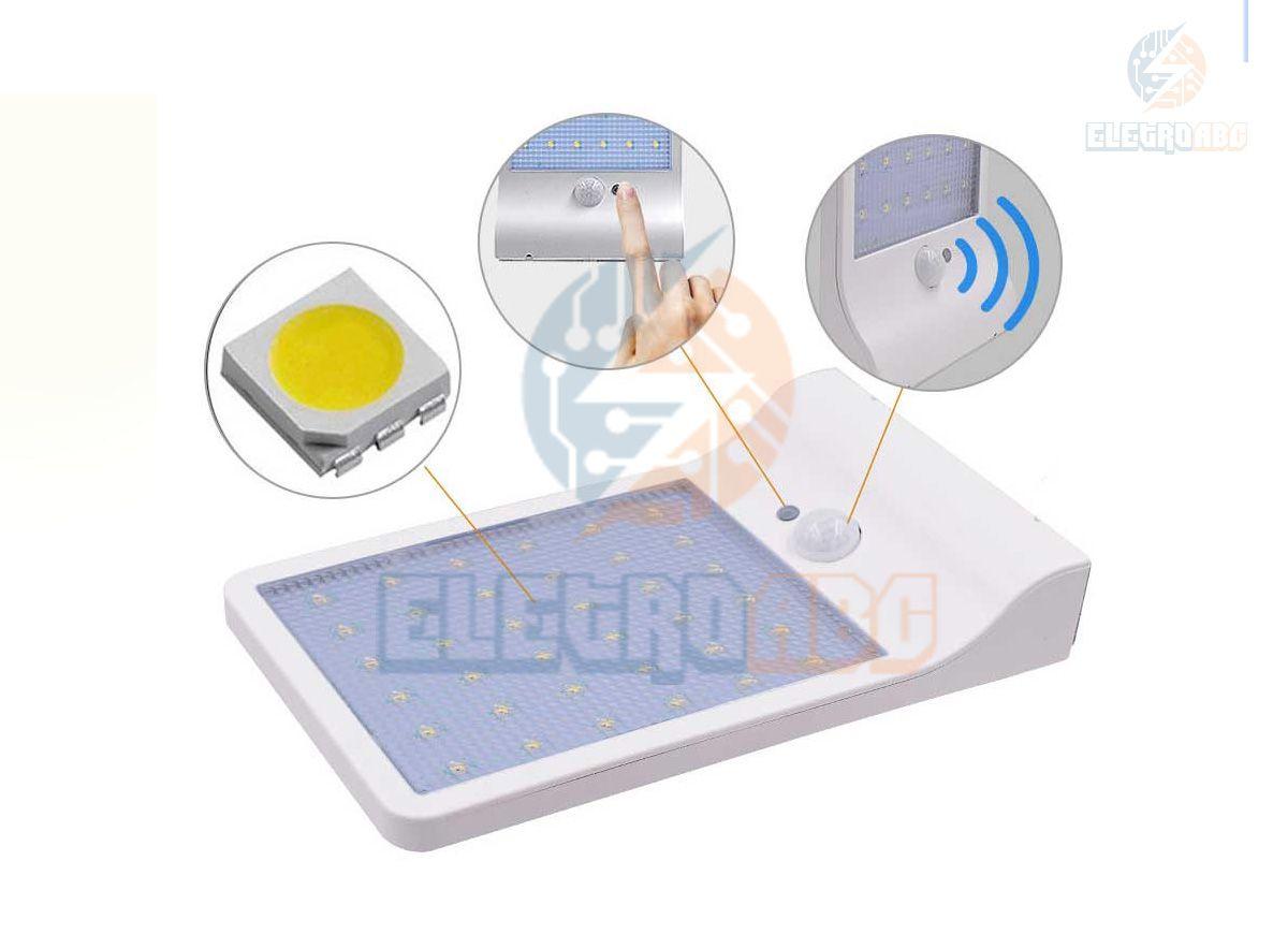Arandela Solar com sensor 2W Luz branca 6500K