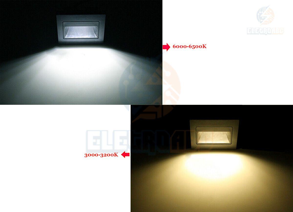 Balizador embutir parede led alloy 3w 3000K