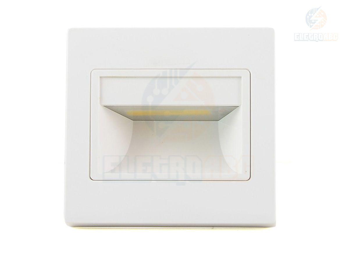 Balizador embutir parede led alloy 3w 6500K