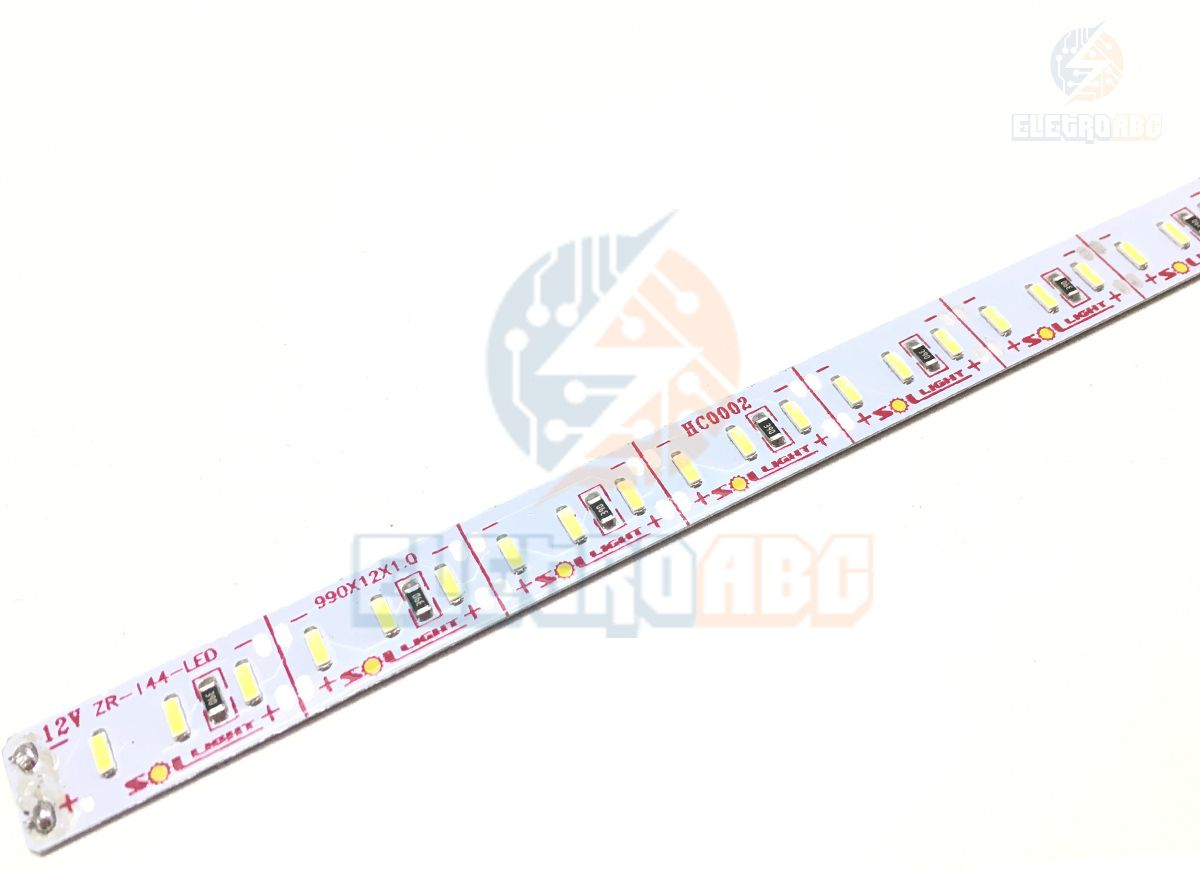 Barra LED Alumínio 3014 22W ZR-144 LEDS/M