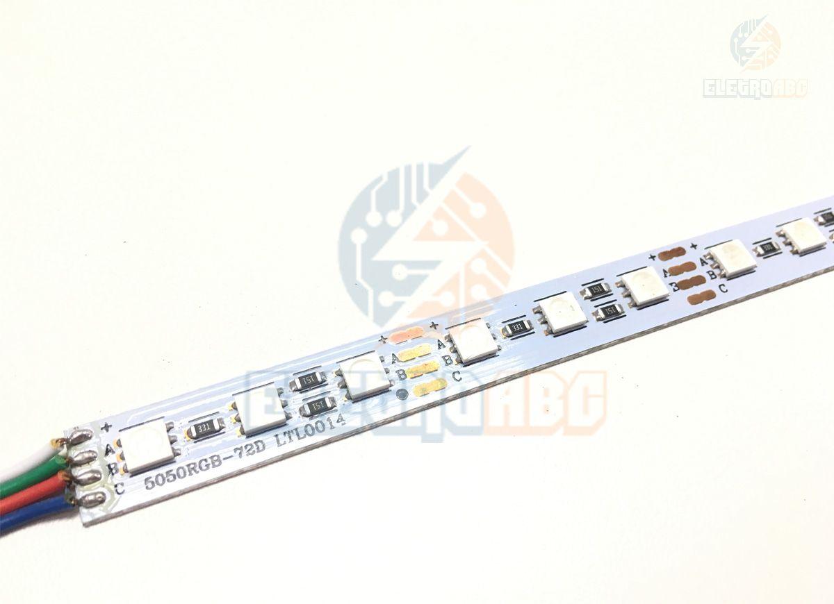Barra LED Alumínio 5050 14,4 watts/metro RGB 1 metro
