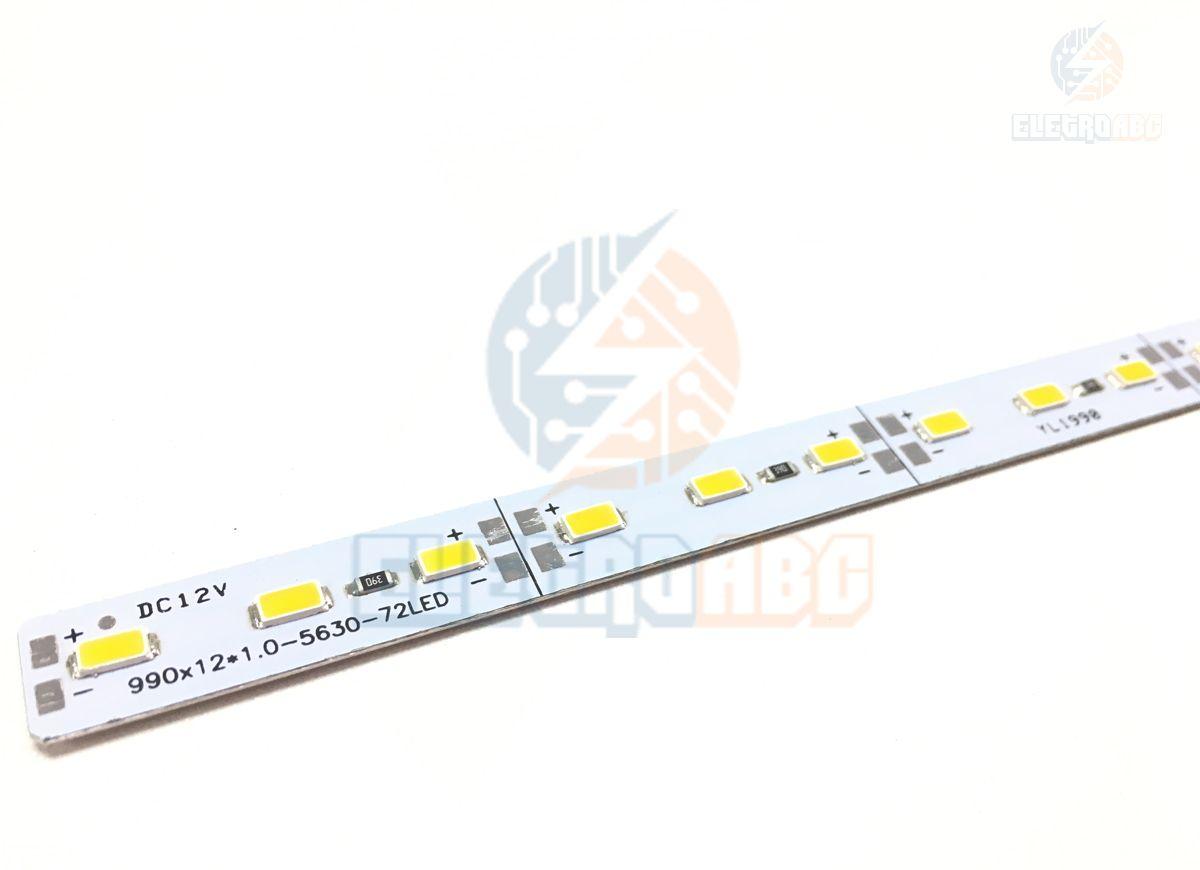 Barra LED Alumínio 5630 14,4 watts/metro BQ 1 metro
