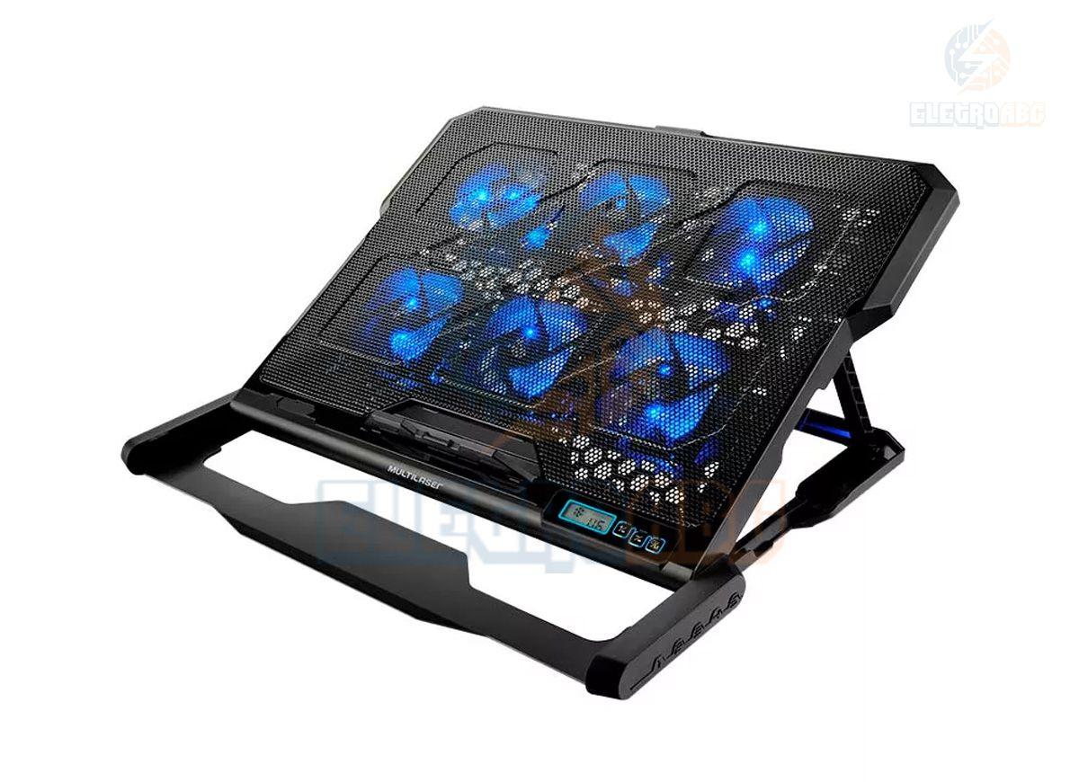 Base Cooler para Notebook 6 Fans LED Azul