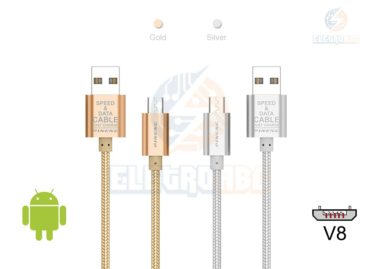 Cabo USB/V8 Android 2MT Pineng