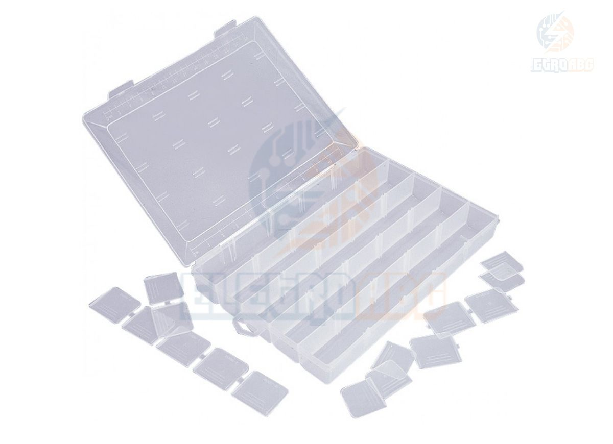 Caixa organizadora com divisorias adaptaveis UT121