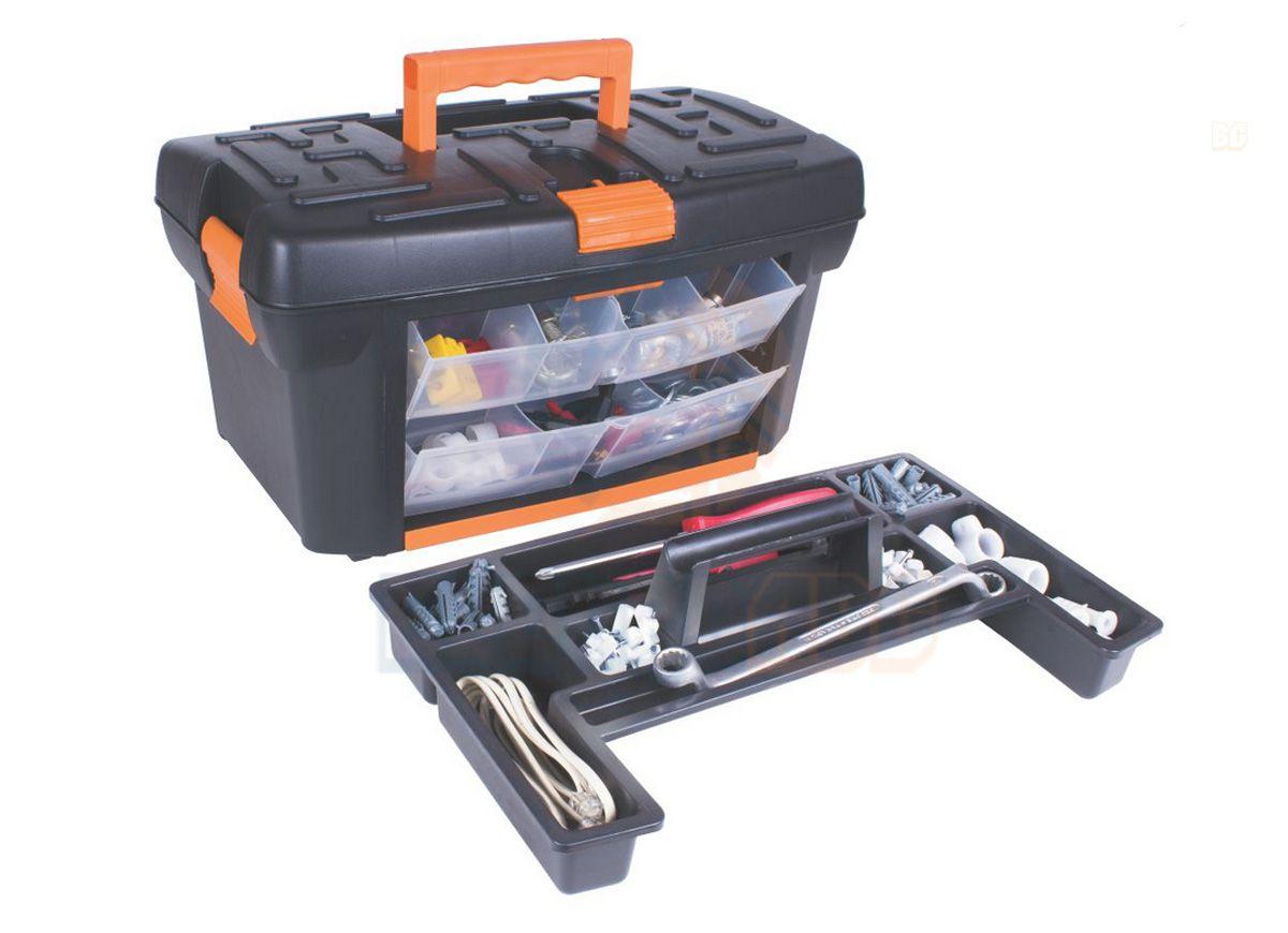 Caixa para ferramentas com organizador CF31