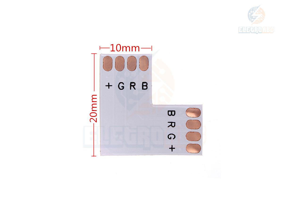 Conector L de emenda para fita 5050 RGB