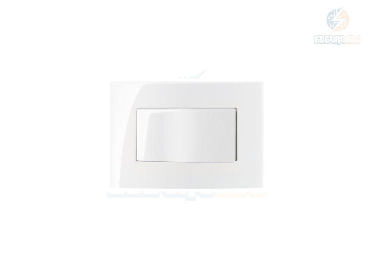Conj. 1 int. simples 10A 250V Para Móvel Branco Sleek