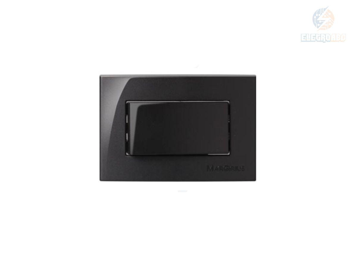 Conj. 1 int. simples 10A 250V Para Móvel EBONY Sleek