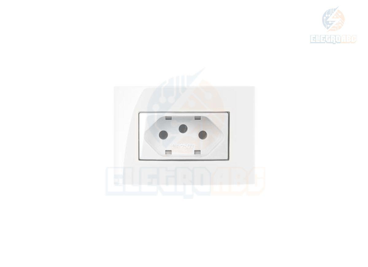Conj. 1 Tom. 2P+T 20A 250V Para Móvel Branco Sleek