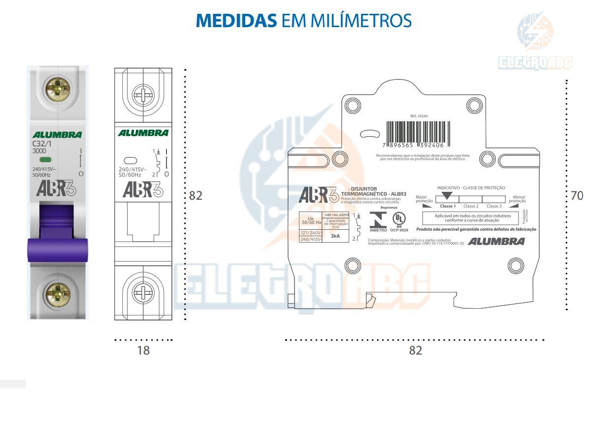 Disjuntor Unipolar ALBR3 C32/1 A