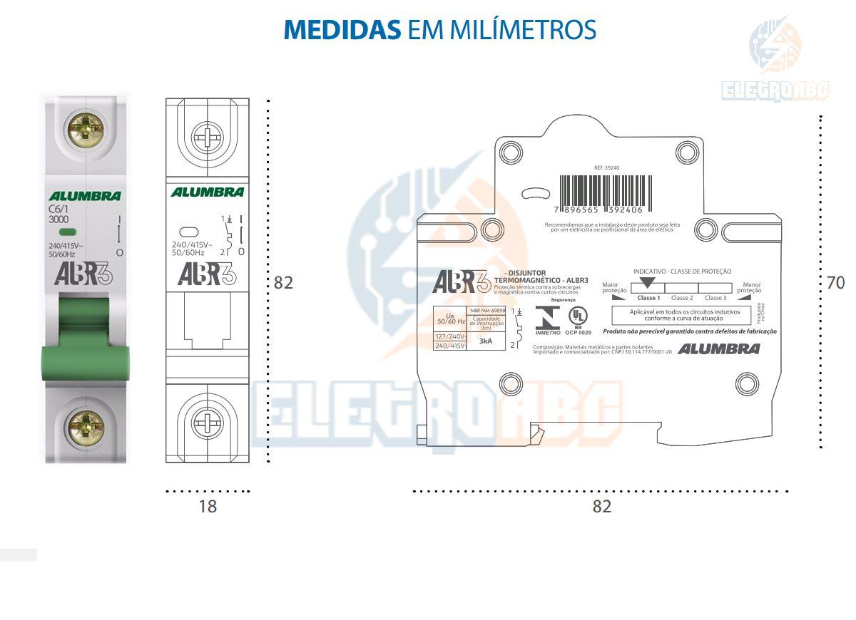Disjuntor Unipolar ALBR3 C6/1 A