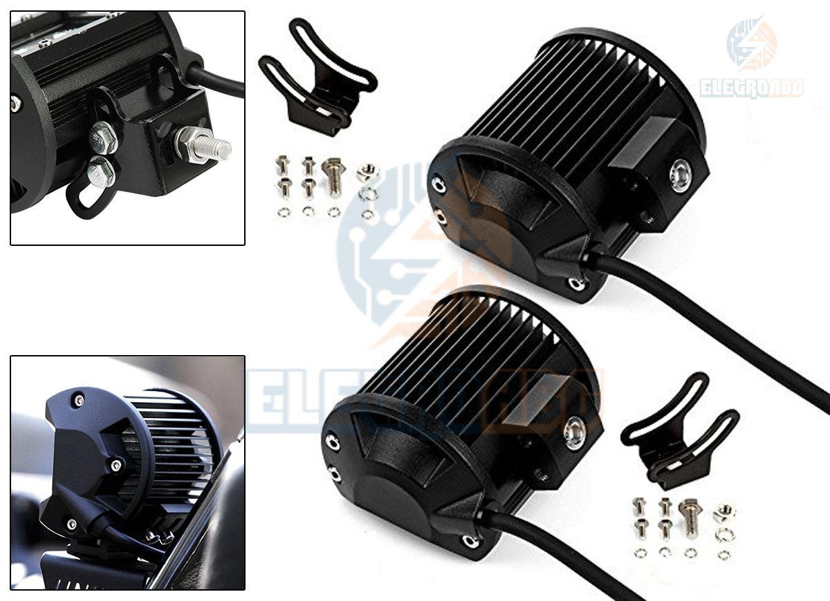 Farol Milha Quadrado AUTOM. 6 LEDS 18 watts IP65